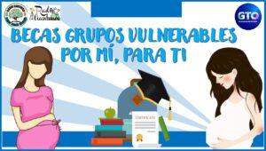 Becas grupos vulnerables por mí, para ti: Convocatoria