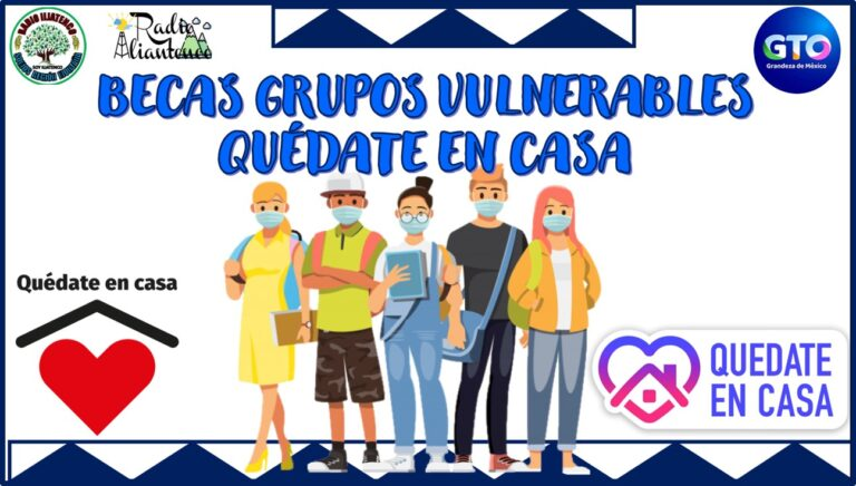 Becas Grupos Vulnerables Quédate en Casa: Convocatoria