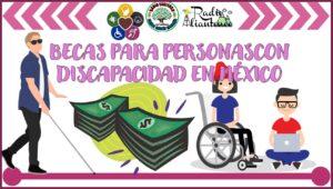 Becas para personas con discapacidad en México: Convocatoria